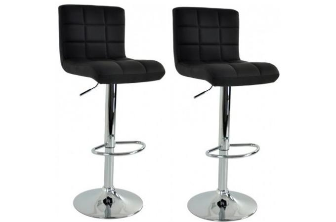 lot de 2 tabourets de bar noir cosy tabouret de bar pas cher. Black Bedroom Furniture Sets. Home Design Ideas