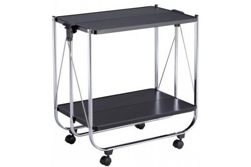 desserte pliante laqu noir palet meuble de rangement pas cher. Black Bedroom Furniture Sets. Home Design Ideas