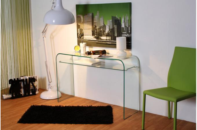 console design en verre transparent 1 tag re otta console pas cher. Black Bedroom Furniture Sets. Home Design Ideas