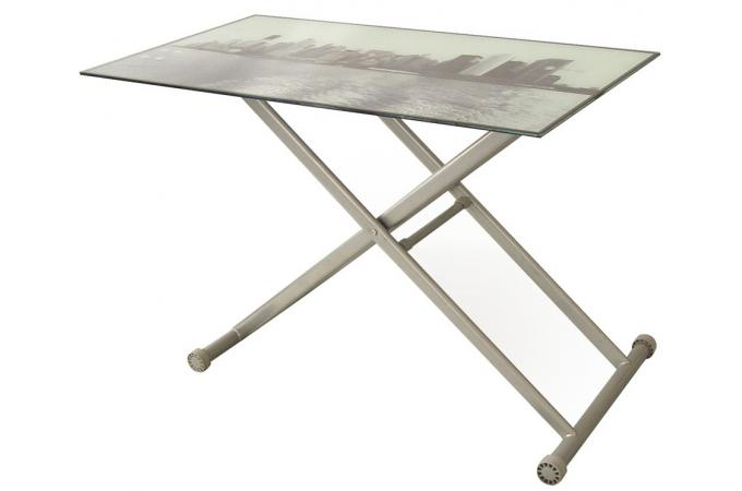 Table basse relevable new york pictures to pin on pinterest - Table basse a plateau relevable ...