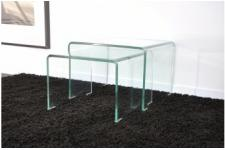 2 tables basses gigognes en verre transparent OTTA - Table design