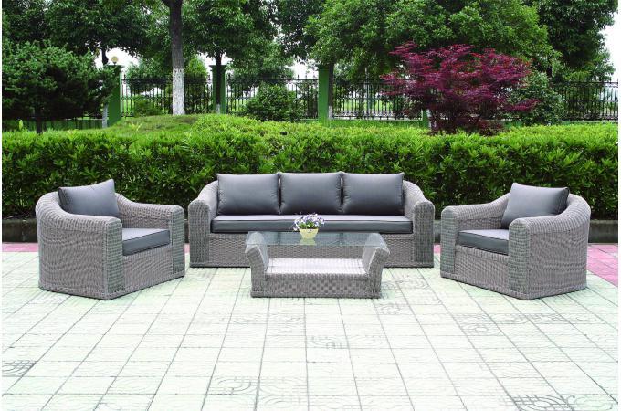 salon de jardin gris amelia salon de jardin pas cher. Black Bedroom Furniture Sets. Home Design Ideas