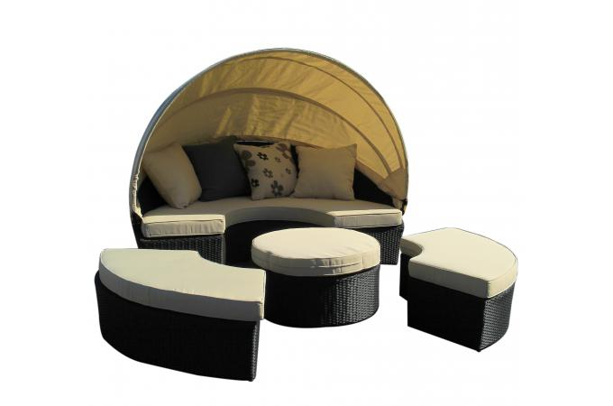salon de jardin noir en r sine tress e dariane salon de jardin pas cher. Black Bedroom Furniture Sets. Home Design Ideas