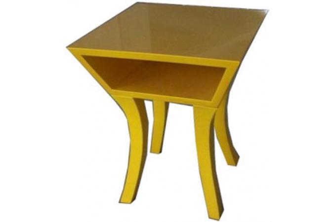 Table de chevet jaune table de chevet pas cher for Table exterieur jaune