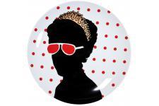 Ménagère Assiette Kare Design pop Lady Queen, deco design