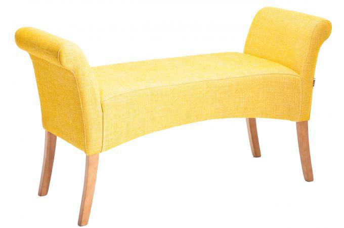 Banquette royale jaune moutarde banquette m ridienne - Pouf jaune moutarde ...
