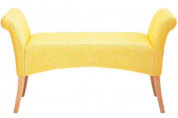 Banquette royale jaune moutarde banquette m ridienne for Banquette meridienne design