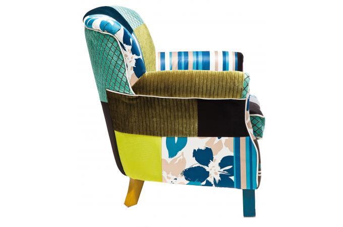 fauteuil r tro patchwork fauteuil design pas cher. Black Bedroom Furniture Sets. Home Design Ideas
