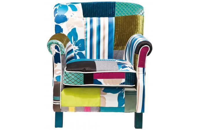 Fauteuil r tro patchwork fauteuil design pas cher - Fauteuil patchwork pas cher ...