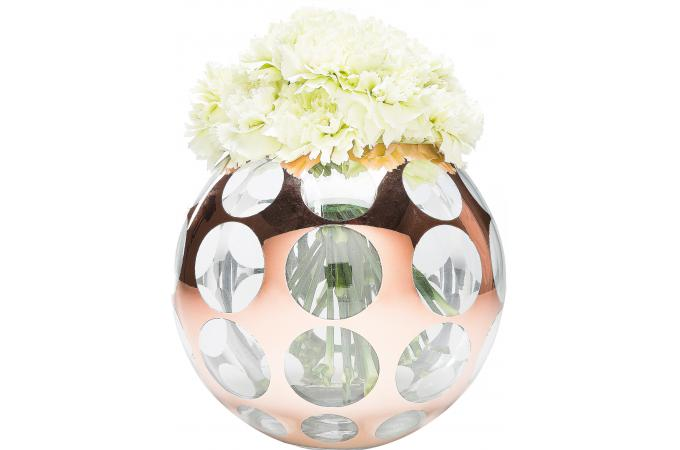 vase boule en verre seventies vase pas cher. Black Bedroom Furniture Sets. Home Design Ideas
