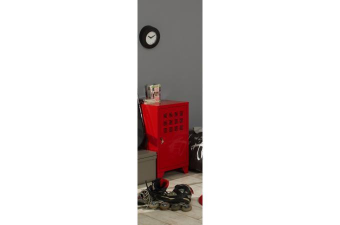 armoire mm rouge en m tal leaticia meuble de rangement. Black Bedroom Furniture Sets. Home Design Ideas
