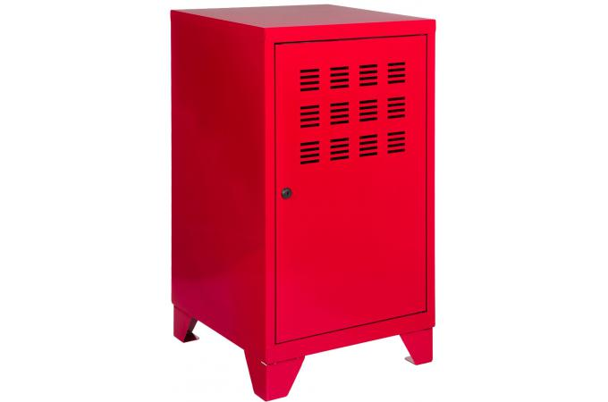 armoire mm rouge en m tal leaticia meuble de rangement pas cher. Black Bedroom Furniture Sets. Home Design Ideas