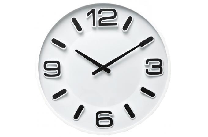 Horloge blanche horloge design pas cher for Pendule blanche design