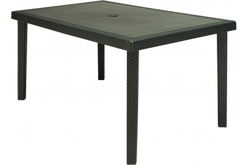 Table de jardin anthracite en polymeric Karine