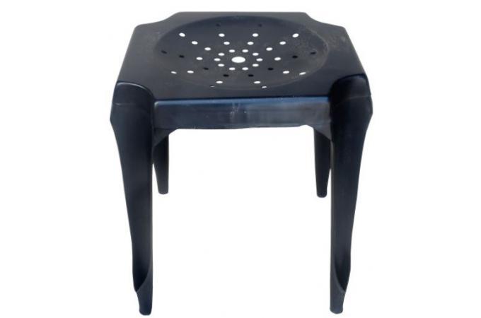 tabouret bas noir en acier faith petit tabouret pas cher. Black Bedroom Furniture Sets. Home Design Ideas
