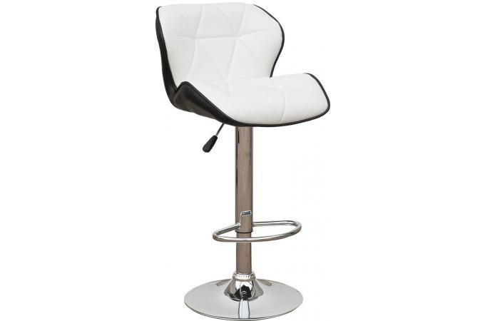 tabouret de bar bicolore en cuir ga l tabouret de bar. Black Bedroom Furniture Sets. Home Design Ideas