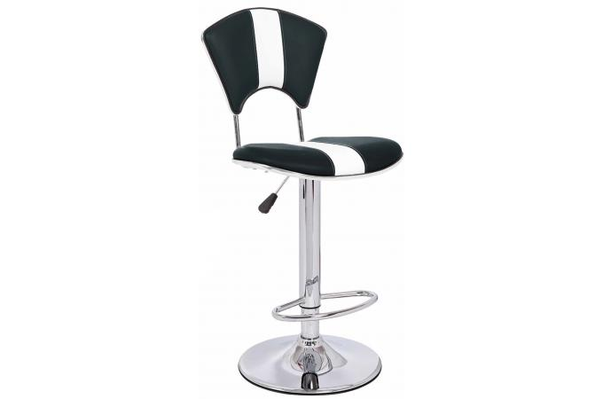 tabouret de bar noir et blanc en cuir galia tabouret de bar pas cher. Black Bedroom Furniture Sets. Home Design Ideas