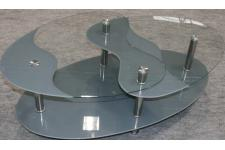 Table basse grise en verre Germina - Table design