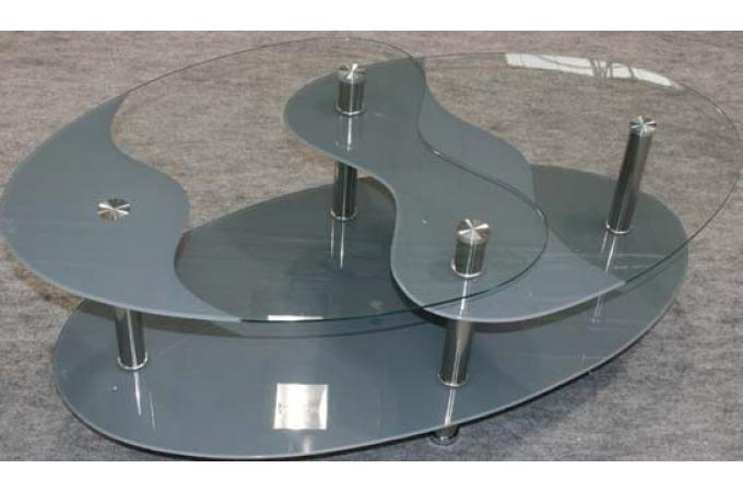 Table basse grise en verre germina table basse pas cher - Table basse grise pas cher ...