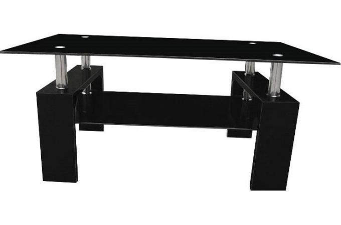Table basse noire verre georgia table basse pas cher - Table basse pas cher noir ...