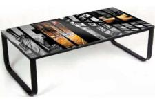 Table basse multicolore en verre Gianna - Table design