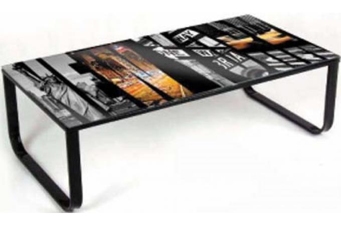 table basse multicolore en verre gianna table basse pas cher. Black Bedroom Furniture Sets. Home Design Ideas