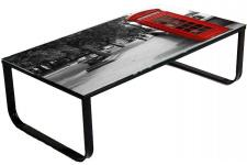 Table basse multicolore en verre London - Table design