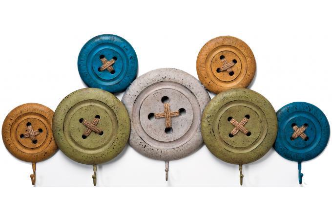 pat re boutons multicolores en m tal porte manteaux pas cher. Black Bedroom Furniture Sets. Home Design Ideas