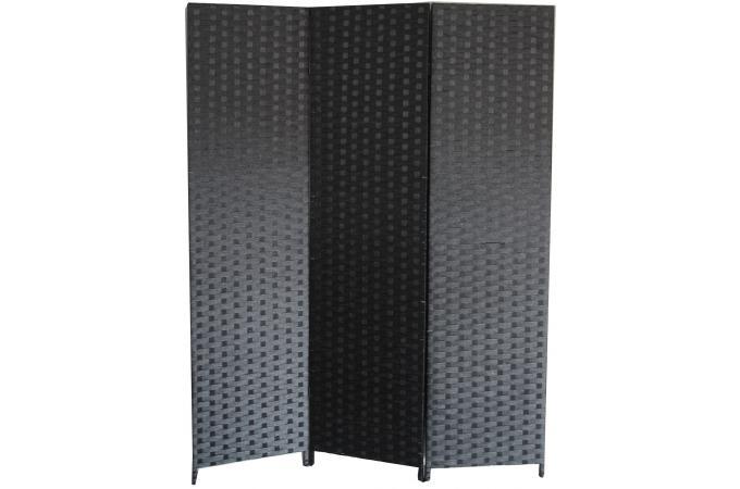 paravent noir en papier tress janelle paravent pas cher. Black Bedroom Furniture Sets. Home Design Ideas