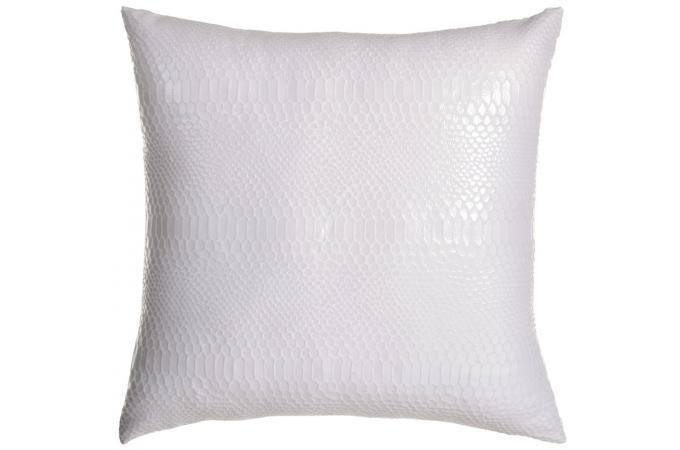 coussin carr blanc en polyester joan coussin pas cher. Black Bedroom Furniture Sets. Home Design Ideas
