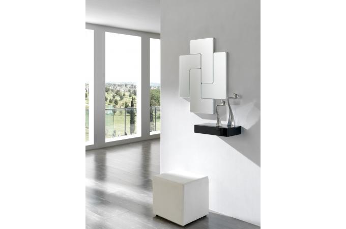 d coration murale modulable blanche tetris miroir rectangulaire pas cher. Black Bedroom Furniture Sets. Home Design Ideas