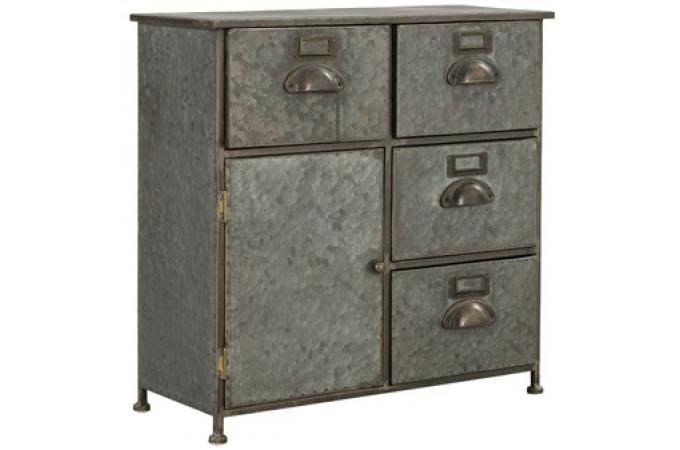 petit buffet gris en m tal manola buffet pas cher. Black Bedroom Furniture Sets. Home Design Ideas