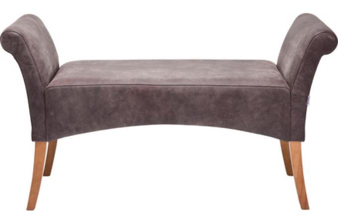 Banc marron en cuir de vachette sylvia banquette for Banquette meridienne design