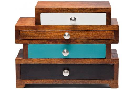 mini commode vm multicolore en bois silvana buffet pas cher. Black Bedroom Furniture Sets. Home Design Ideas
