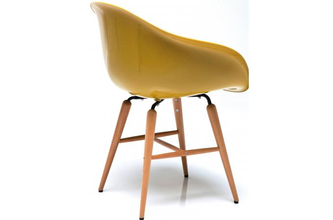 fauteuil moutarde en abs sheila chaise design pas cher. Black Bedroom Furniture Sets. Home Design Ideas