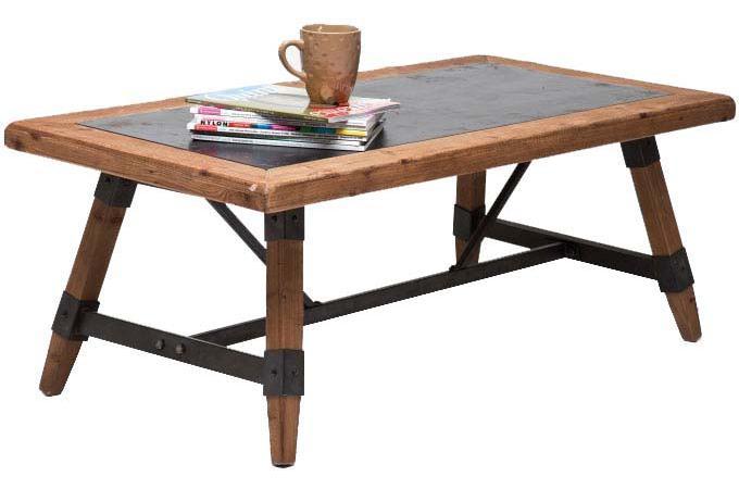 Table basse marron plaqu bois sidney table basse pas cher - Table basse marron ...