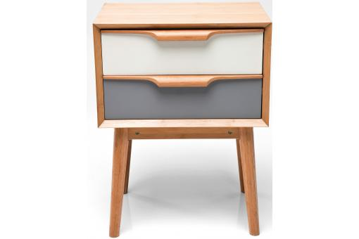 Mini commode multicolore plaqu bois sereine meuble de - Systeme rangement cremaillere ...