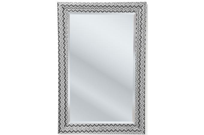 Miroir kare design argent mm en bois reva miroir for Miroir bois pas cher