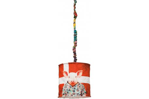 Lampe suspendue Danemark en toile Revelyne - Lustre et suspension design