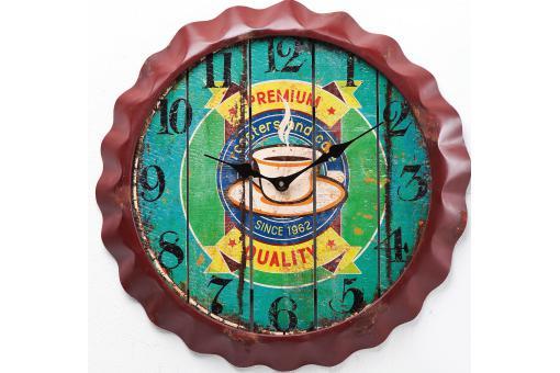 En bois gt d cor mural en bois personnalisable ecusson - Horloge murale personnalisable ...