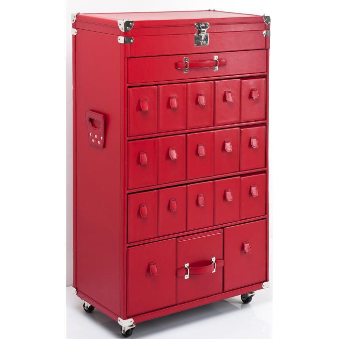 Armoire chaussures rouge plaqu bois raja meuble de for Meuble a chaussure rouge