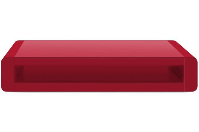 Merveilleux Table Basse Rouge Laquée Avec Plateau En Verre Willy