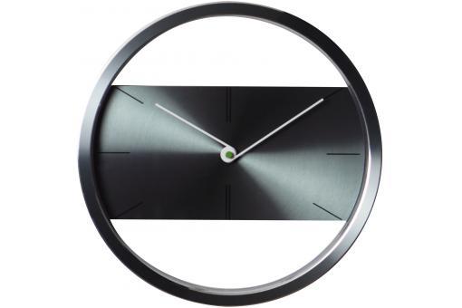 Horloge design acier grise horloge design pas cher for Horloge grise
