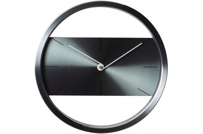 horloge design acier grise horloge design pas cher. Black Bedroom Furniture Sets. Home Design Ideas
