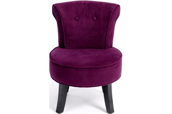 fauteuil romantique aubergine fauteuil crapaud pas cher. Black Bedroom Furniture Sets. Home Design Ideas