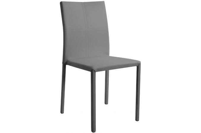 lot de 6 chaises empilables grises chaise design pas cher. Black Bedroom Furniture Sets. Home Design Ideas