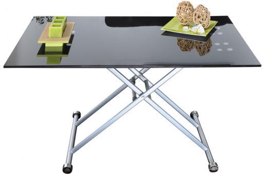 Table r haussable verre noir table basse pas cher - Table rehaussable but ...