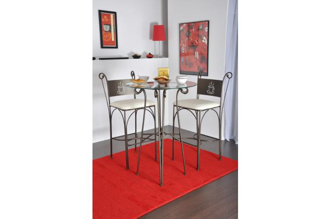 table haute ronde django table de bar pas cher. Black Bedroom Furniture Sets. Home Design Ideas
