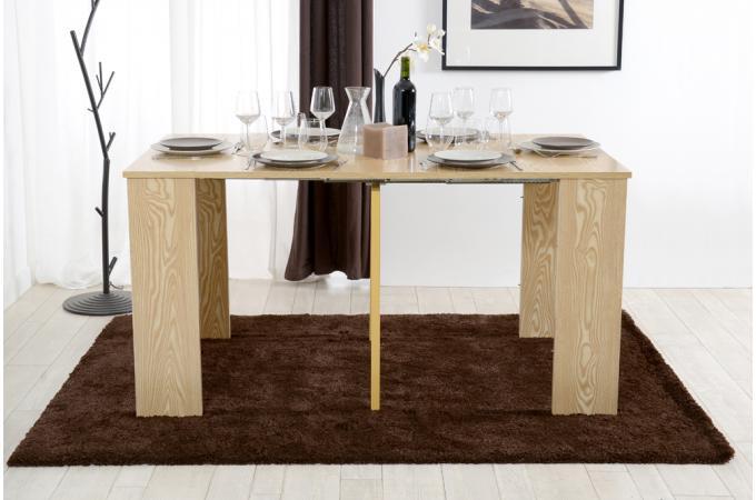 console extensible 3 allonges m lamin e ch ne table console pas cher. Black Bedroom Furniture Sets. Home Design Ideas