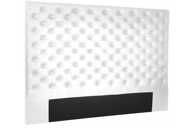 t te de lit 180 imitation cuir blanc t te de lit pas cher. Black Bedroom Furniture Sets. Home Design Ideas